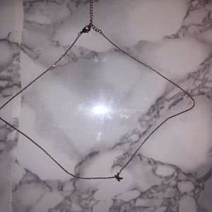 dainty initial K necklace